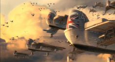"""Dieselpunk: English bombers from the movie """"Sky Captain And The World Of Tomorrow"""" 2004."""