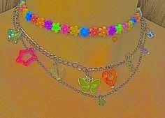 Estilo Indie, Cute Jewelry, Beaded Jewelry, Jewelry Accessories, Jewelry Shop, Jewelry Necklaces, Swarovski Jewelry, Jewlery, Rainbow Aesthetic