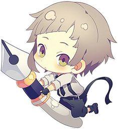 Anime Chibi, Chibi Dog, Kawaii Chibi, Cute Chibi, Kawaii Anime, Stray Dogs Anime, Bongou Stray Dogs, Anime Boys, Bungou Stray Dogs Atsushi