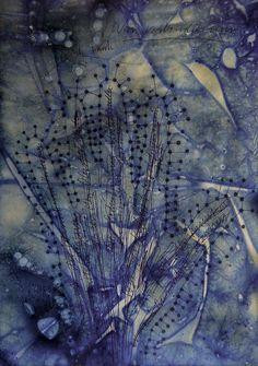 Mindmap II George Steinmann Heidelbeersaft, Antiseptikum, Kugelschreiber auf Papier.Format A4