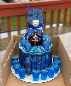 Alcohol Birthday Cake, Money Birthday Cake, Alcohol Cake, Creative Birthday Cakes, Funny Birthday Cakes, Custom Birthday Cakes, Cupcake Birthday Cake, Adult Birthday Cakes, Beautiful Birthday Cakes