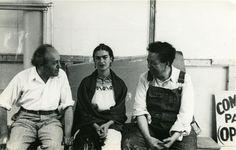 1933 New Workers School, Bloch, Frida Kahlo e Diego Rivera © Lucienne Bloch