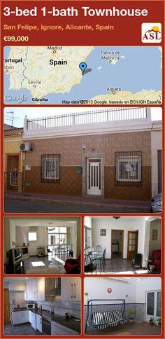3-bed 1-bath Townhouse in San Felipe, Ignore, Alicante, Spain ►€99,000 #PropertyForSaleInSpain