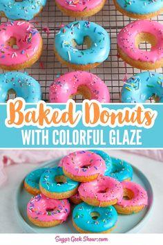 Cake Donut Recipe Baked, Vanilla Donut Recipes, Baked Doughnut Recipes, Easy Donut Recipe, Baked Doughnuts, Doughnut Cake, Icing For Donuts Recipe, Fluffy Doughnut Recipe, Donut Baking Pan