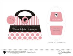 Vintage Barbie Printable Purse Invitation. $10.00, via Etsy.