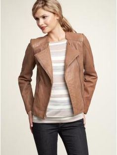 Textured leather jacket that I'm never going to buy because I could never spend that much money on anything, except maybe a purse, and I know that's illogical.  Gap.  $298.