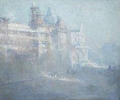 Arthur Streeton - South Kensington Museum under construction