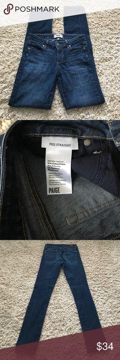 "Paige Denim ""Peg Straight"" 25x30.5 Paige jeans ""Peg Straight"" 25x30. Good preowned condition Paige Jeans Jeans Straight Leg"