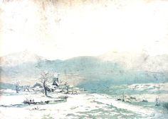 Zimní krajina-pozadí