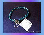 DNA Divine-Nature-Advantage handmade morse code identity bracelet