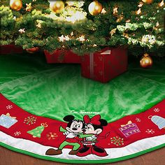 Mickey and Minnie Mouse Tree Skirt - Personalizable | Decor | Disney Store