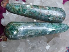 Blue green kyanite wandInner bridgesConnecting with by MagicaLuna