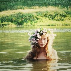 water nymph love the big flowers in the hair
