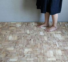 This Wood Block Floor is Composed of Severed Tips of Old Timber Beams #eco trendhunter.com
