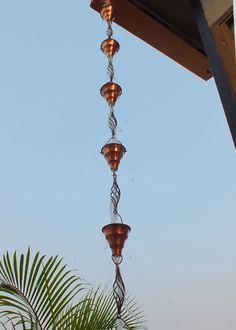 This Beautiful Pure Copper Tara Cup Rain Chain Made Of Heavy Guage Intermingled With The Alluring Stylish Swirl Is Our Show Stopper Rainchain
