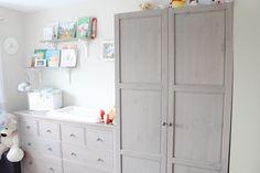 House Tour: Ethans Neutral Modern Bedroom / Nursery Ikea grey-brown hemnes