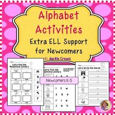 This alphabet activities product with letter, word, and picture support is to…