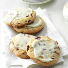 Cherry Pistachio Cookies Recipe -Dried cherries, crunchy nuts, bits of orange, white chocolate—there's a lot to love in this cookie! It's very different from any I've had before. —Kathy Harding, Richmond, Missouri