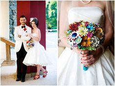 50'S INSPRIED WEDDING INVITATIONS | carnival themed wedding