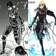 This whole time I was wondering what Armin and Levi look like now, but now it's occurred to me I wanna know what Historia looks like too