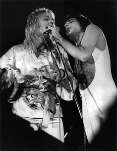 Freddie Mercury and Roger Taylor