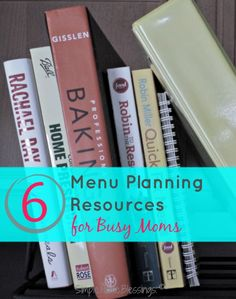 Menu Planning made easy with these resources for busy moms