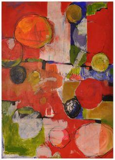 "Saatchi Art Artist: Elaine Florimonte; Acrylic 2009 Painting ""Benign Umbrella Pines"""