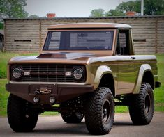Behold This Beautifully Built Bronze 1966 Ford Bronco Pickup 1966 Chevy Truck, Bronco Truck, Ford Pickup Trucks, Classic Chevy Trucks, Jeep Truck, Bronco Ii, Ford 4x4, Bronco For Sale, Early Bronco
