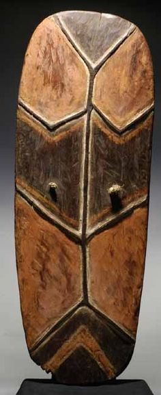 "Mendi Shield, Southern Highlands of Papua New Guinea, ca.1940. 52 ½"" in height"