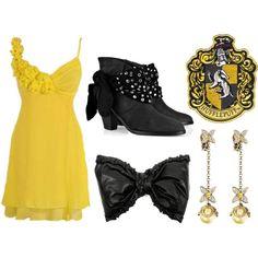 Hufflepuff Dress by gryffindor-princess