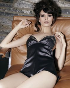 Exquisite silk and lace playsuit