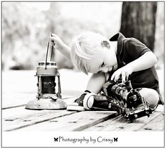 2 year old session for a train theme party