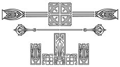 Special Font: Art Deco Borders | Fontcraft: Scriptorium Fonts, Art and Design