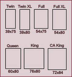 Bed Size Chart I Have Cali King Now But Now I Want An Alaska