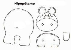 Hipopótamo molde