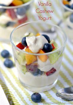 Vanilla Cashew Yogurt - from Dreena Burton, plant-powered kitchen - #vegan #dairyfree #soyfree #glutenfree