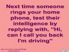 Home phone funny