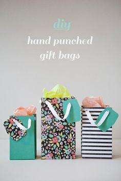 DIY Art & Crafts : DIY punch gift bags!