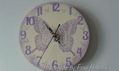 """8"""" Butterfly Clock"""