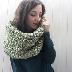 A personal favorite from my Etsy shop https://www.etsy.com/listing/252311927/super-chunky-oversized-green-crochet