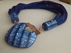 washed blue toggle pendant | by Dev'Art60