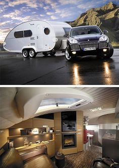 If I ever swear off men and a traditional lifestyle, I will travel the US seeking odd jobs and living in a trailer just like this.: