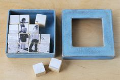 DIY Puzzle Photo Blocks - By Tonia Larson Cube Photo, Photo Cubes, Puzzle Photo, Fathers Day Crafts, Fathers Day Photo, Dia Do Pai, Diy Gifts For Dad, Diy Mothers Day Gifts, Homemade Gifts