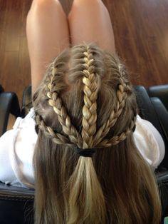 Put in a bun or ponytail