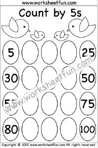 Skip Counting By 5 Count By 5s 1 Worksheet Skip Counting