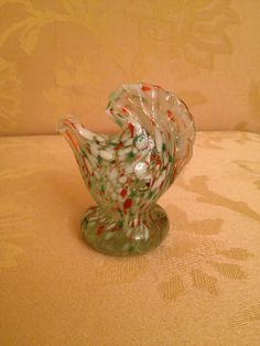 vintage glass Rooster, ...1980s kitchen/home decor..multi colored Murano look. by THEVINTAGECLOWN on Etsy https://www.etsy.com/listing/245601554/vintage-glass-rooster-1980s-kitchenhome