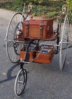 La première automobile électrique (1881) reproduite par le musée allemand Autovision.