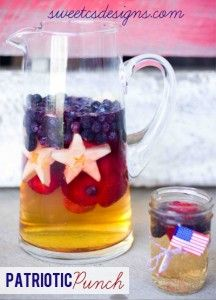 Patriotic Punch - Sweet Cs Designs. Perfect for Memorial Day Weekend!
