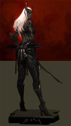 Dark elf, JUHAN NA on ArtStation at https://artstation.com/artwork/dark-elf-d20d4eb5-f6cc-4bf6-8e2e-ee0dbf83d270