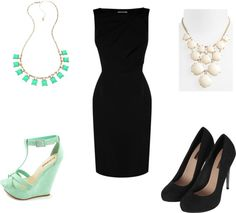 Little Black Dress No fashionable girl can get by without one! The little black dress has long been a closet staple. Take it out for drinks with the ladies with mint wedges and a matching necklace. Then take it to the office with black suede pumps and a standout off-white statement necklace.  For more visit- http://whyoffashion.com/